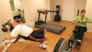 installing a basement fitness center in